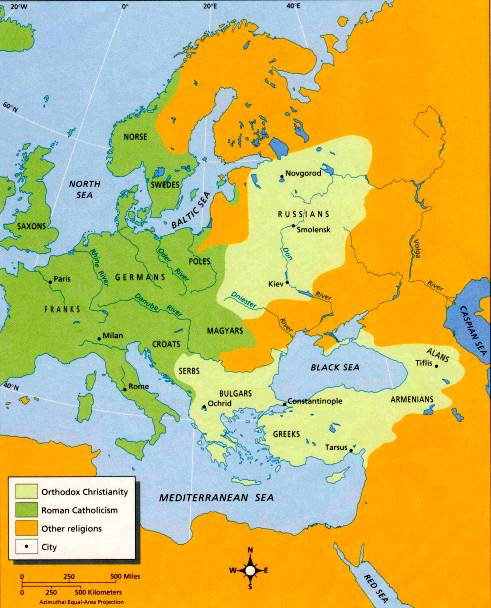 western civilization map of europe Western Civilization II » Blog Archive » Religious Maps of Europe
